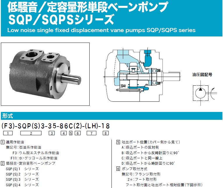 TOKIMEC Vane Pump F11-SQP2-21-1C2-18